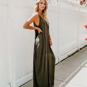8e74cab18711 Pocketed Maxi Dress - Black - Vici Collection